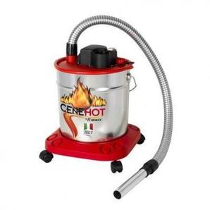 Bidon vide cendres chaudes CENEHOT SUR ROUES à moteur électrique 950W,18L pour aspirer les cendres chaudes des cheminées, des poêles à bois ou à granulés - ATEPAC