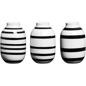 Kähler Design Vases en miniature Omaggio - Set de 3 - noir