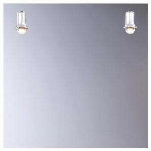 Miroir de salle de bains avec éclairage FLUO-COMPACTE - Modèle Carré - 65 cm x 65 cm (HxL) - PRADEL