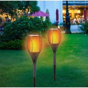 GRUNDIG Torche solaire - 72 LED - 1200 mAh - Effet flamme vacillante - Ø 12 x H78 cm