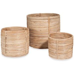 3 cache-pots en rotin RONDINS