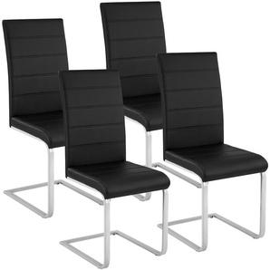 4 Chaises de Salle à Manger Rembourrées Design Moderne Pieds en métal Noir - TECTAKE