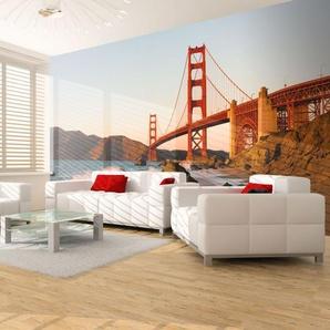 Papier peint - Pont du Golden Gate - coucher de soleil, San Francisco