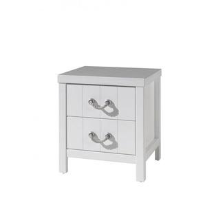 Chevet contemporain blanc laqué Oceanie - Blanc laqué - MATELPRO