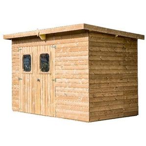 Abri THEORA en bois sans plancher, toit mono pente bac acier 7,33 m² - HABRITA