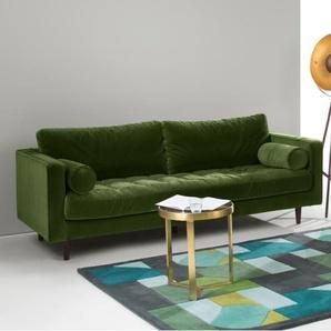 Scott, un canapé 3 places, velours vert impérial