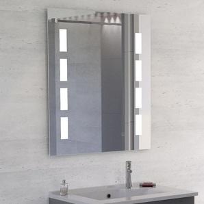 Miroir anti-buée PRESTIGE 70x80 cm - éclairage intégré à LED et interrupteur sensitif
