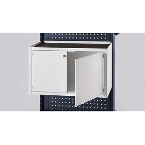 Armoire à portes battantes - l x p x h 760 x 450 x 330 mm - gris clair - CERTEO