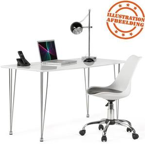 Chaise de bureau moderne SEDIA blanche et noire