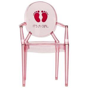 Kartell Lou Lou Ghost - Chaise d'enfant avec motif - rose foncé/motif it's a girl/LxPxH 40x37x63cm