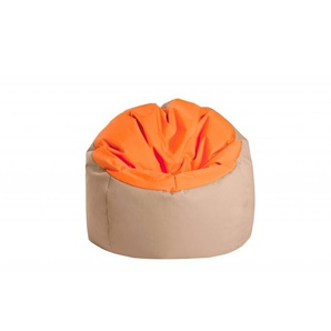 Jumbo bag Pouf Bowly Orange / Beige