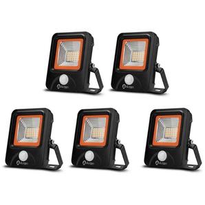 5×Anten 20W Projecteur LED Détecteur de Mouvement Spot Éclairage LED PIR Sensor Extérieur IP65 avec Détecteur Lampe de Sécurité Blanc Chaud 3000K (Boîte de Jonction Fournie)