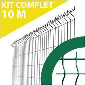 Kit Grillage Rigide Vert 10M - Fil 4mm - 1,93 mètre - CLOTURE & JARDIN