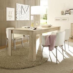 Table de salle à manger couleur bois moderne PLUME
