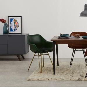 Hektor, lot de 2 chaises tonneaux, marron et noir