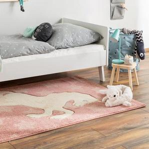 Tapis enfant Justin Unicorn Rose 120x170 cm - Tapis pour chambre denfants/bébé