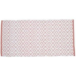 SOLYS Tapis dextérieur - PVC - 140 x 70 cm - Marron safran