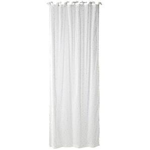 Rideau à nouettes en coton blanc à lunité 102x250