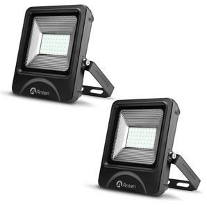 2×Anten 50W Spot LED Éclairage Porjecteur LED IP65 Étanche Ultra-Mince Lampe à Leds pour Intérieur et Extérieur Blanc Chaud 3000K (Connecteur de cble étanche Fourni)