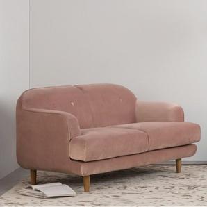 Gracie, canapé 2 places, velours rose vintage