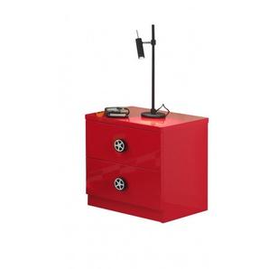 Chevet enfant moderne rouge Bolid - Rouge - MATELPRO