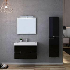 Meuble salle de bain CALABRO 800 Noir