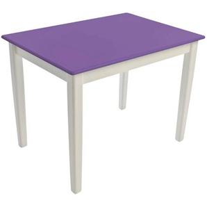 Kinderbunt Tim - Table d'Enfant bicolore - violet/69x49x51cm/structure blanc RAL 9010