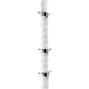 Opinion Ciatti La Cima - Portemanteaux - blanc/avec 6 patères en nickel/H 360cm/Ø 7cm/Suspension de plafond nécessaire!