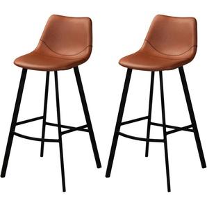 Chaise de bar Falko marron 80 cm (lot de 2) - RENDEZ VOUS DéCO