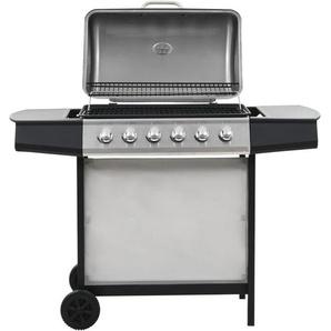 Barbecue au gaz avec 6 zones de cuisson Inox Argenté - VIDAXL