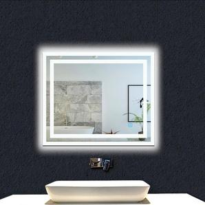 OCEAN Miroir de salle de bain 100x60cm anti-buée miroir mural avec éclairage LED modèle Carré 3.0 - OCEAN SANITAIRE