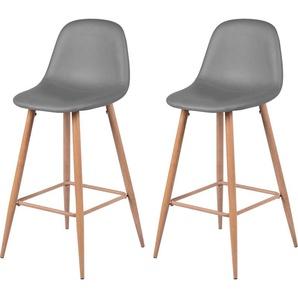 Chaise de bar Rodrik grise 73 cm (lot de 2) - RENDEZ VOUS DéCO