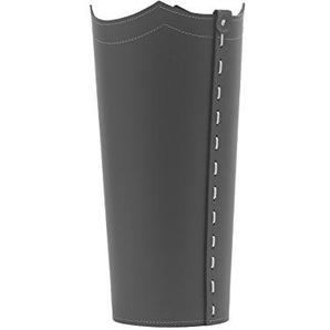 Umbrella: Porte parapluies en Cuir Couleur Athracite, Porte Parapluie de Design avec Un Plateau de Crochets Made in Italy by Limac Design®.