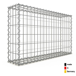 Gabion 100x60x20cm « made in Germany » - mailles rectangulaires 5x10cm - GABIONDECO