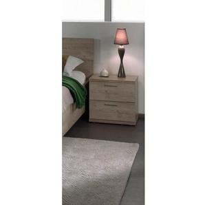 Chevet contemporain 2 tiroirs chêne clair Lorina - Chêne clair - DELADECO