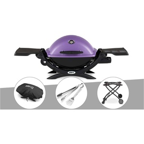 Barbecue gaz Weber Q 1200 Purple + Housse + Kit Ustensile + Chariot