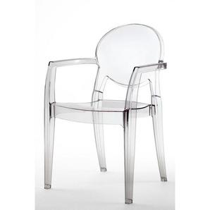 Chaise glossy design avec accoudoirs - IGLOO