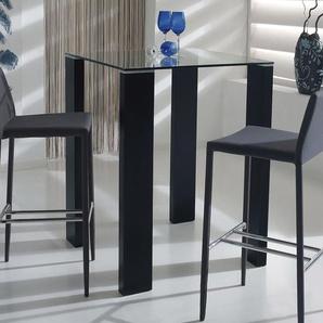 Table haute carrée noire TESSI 2