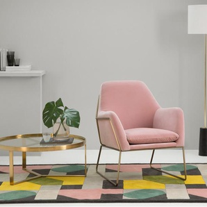 Frame, fauteuil, velours rose blush