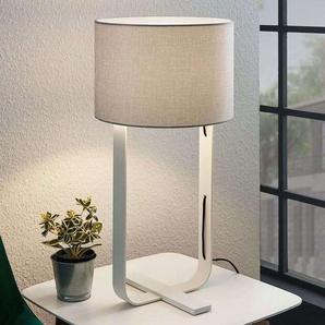 Lampe à poser Tarika en textile pour chambre à coucher - LAMPENWELT