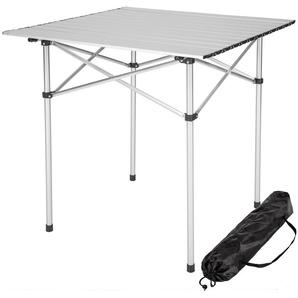 Table pliante de Camping 70 cm x 70 cm x 70 cm en Aluminium + Sac de transport - TECTAKE