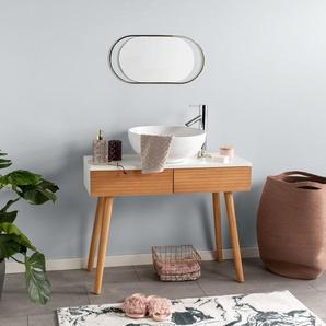Tapis de Bain Luis Beige/Turquoise 80x150 cm - Tapis pour salle de bain