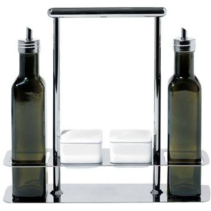 Alessi AB12 Porte-huiles - inox/verre teinté, faïence