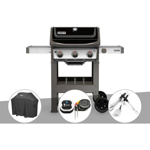 Barbecue gaz Weber Spirit II E-310 + plancha + Housse + Thermomètre IGrill 3 + Kit Ustensile