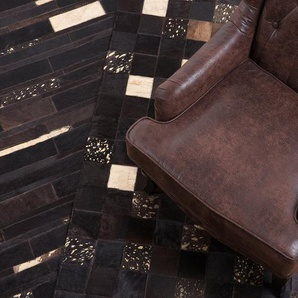 Tapis patchwork en peau 200 x 300 cm BANDIRMA