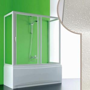 Cabine douche 3 côtés Pare-Baignoire 80x160x80 CM en acrylique mod. Plutone avec ouverture laterale - IDRALITE