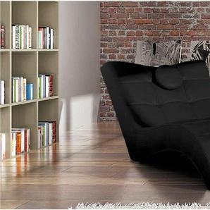 JUSTyou Londres Fauteuil relax 84-76x170x92 cm Noir