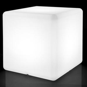 Cube lumineux 45cm en plastique blanc BABIO - L 45 x l 45 x H 45 - Blanc - MA MAISON MES TENDANCES