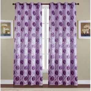 Paire de double rideaux 140x260 cm Violet