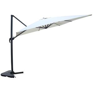 Cesare écru : Parasol déporté, rectangulaire de 3x4m, rotatif à 360°